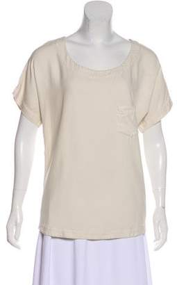 Jesse Kamm Scoop Neck Short Sleeve Top