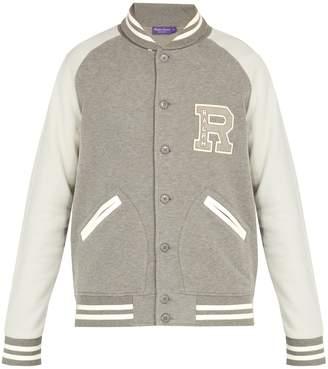 Ralph Lauren Purple Label Logo-embroidered cotton-blend varsity jacket