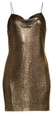 Alice + Olivia Harmony Chainmail Mini Dress