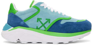 Off-White Blue and Green Jogger Sneakers