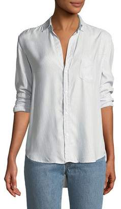 Frank And Eileen Eileen Striped Modal Long-Sleeve Button-Front Shirt
