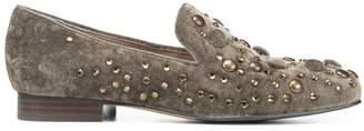 Donald J Pliner LYLE2SP, Embellished Distressed Velvet Loafer