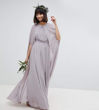 TFNC Chiffon Maxi Cape Cover Up