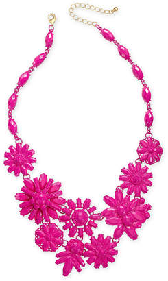 "INC International Concepts I.n.c. Gold-Tone Beaded Flower Statement Necklace, 18"" + 3"" extender, Created for Macy's"