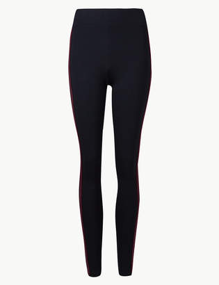 81b04efb81199f M&S CollectionMarks and Spencer Side Stripe Leggings