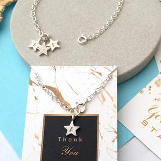 a ring a day Personalised Silver Star Bracelet