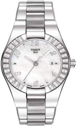 Tissot Women's Glam Sport Quartz Swiss Stainless Steel Watch, 49mm