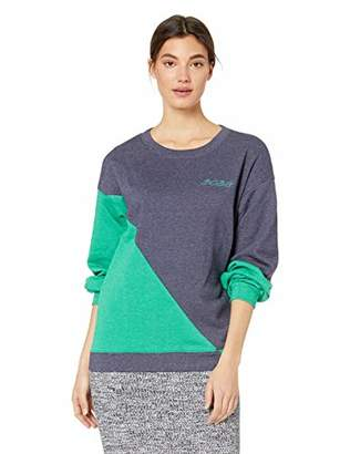 BCBGMAXAZRIA Women's Asymmetric Colorblocked Sweatshirt