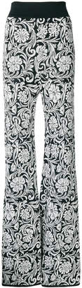Balmain jacquard flared trousers