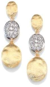 Marco Bicego Siviglia Diamond& 18K Yellow Gold Triple-Drop Earrings