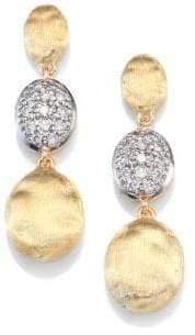Marco Bicego Siviglia Diamond& 18K Yellow Gold Triple-Drop Earrings