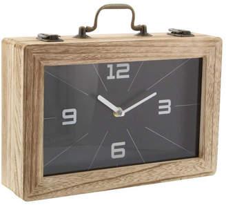 Uma Enterprises Vintage Reflections Wood Clock Box