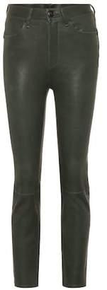 Rag & Bone Ankle Cigarette leather pants
