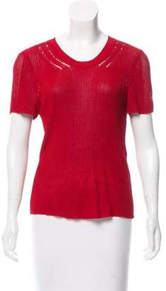 Maiyet Rib Knit Short Sleeve Top