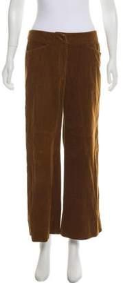 Giorgio Armani Corduroy Mid-Rise Pants Brown Corduroy Mid-Rise Pants