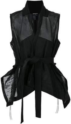 Ann Demeulemeester sleeveless wrap blouse