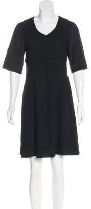 Mayle Lace-Trimmed Knee-Length Dress Black Lace-Trimmed Knee-Length Dress