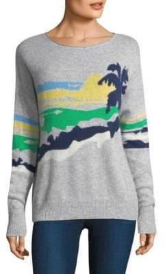 360 Cashmere Sunny Print Sweater