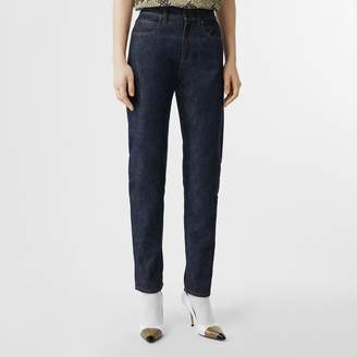 Burberry Straight Fit Japanese Selvedge Denim Jeans