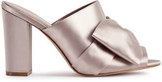 Reiss MOLLY PEEP-TOE SATIN MULES Powder