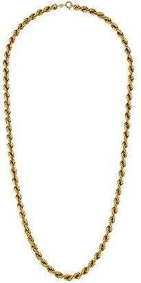 14K Thick Rope Chain Necklace
