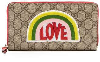 Gucci Love-appliqué GG Supreme wallet