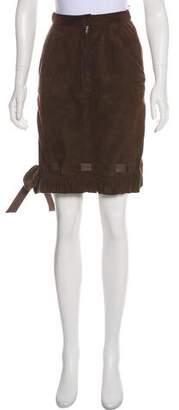 Valentino Suede Knee-Length Skirt