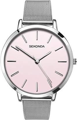 Sekonda Womens Analogue Classic Quartz Watch with Stainless Steel Strap 2473.27