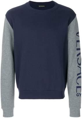 Versace logo sleeve sweatshirt