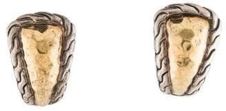 John Hardy Two Tone Huggie Ear Clip Earrings