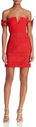 Style Stalker Stylestalker Jackson Off-the-Shoulder Mini Dress