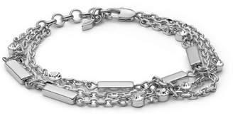 Fossil Multi-Chain Silver-Tone Brass Bracelet