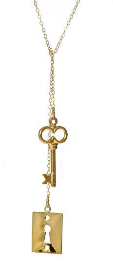 Emily Elizabeth Jewelry Under Lock and Key Lariat Necklace