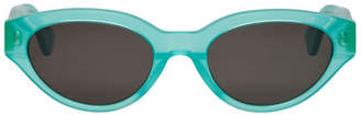 Super Green and Black CR39 Drew Sunglasses