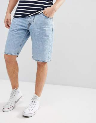 Diesel Kee Acid Wash Denim Shorts