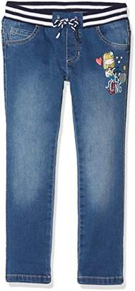 Benetton Girl's Trouser, (Blue 901), One (Size: X-Small)