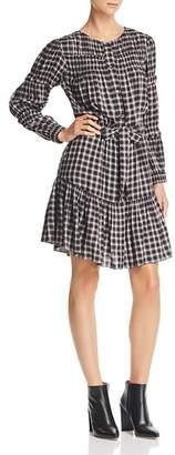 Rebecca Taylor La Vie Shirred Plaid Dress