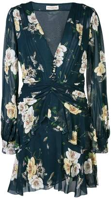 Nicholas floral print ruffle-trimmed dress