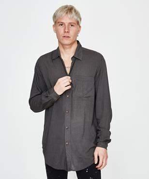 Victoria's Secret The People Stevie Long Sleeve Shirt Khaki