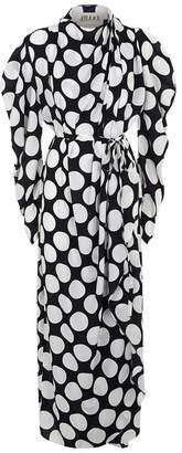 Awake Polka Dot Wrap Dress