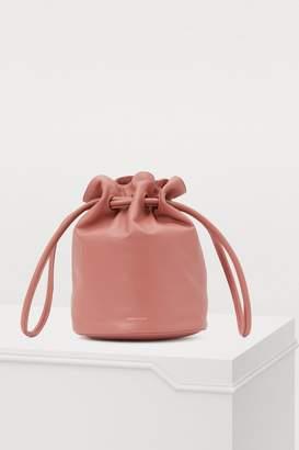 Mansur Gavriel Leather drawstring clutch