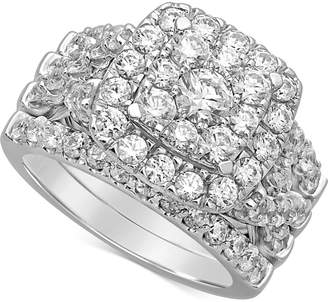 Macy's Diamond Cluster Bridal Set (3 ct. t.w.) in 14k White Gold