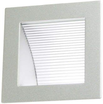 Linea Recessed 90 LED Wall Light in Silver 6000K