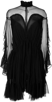 Jonathan Simkhai sheer and net mesh panelled dress