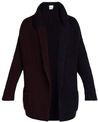 Paul Smith - Bi Colour Wool Knit Cardigan - Mens - Navy Multi