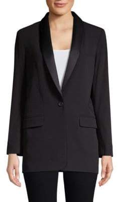 Equipment Quincy Wool Crepe Blazer