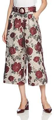 Lily Brown (リリー ブラウン) - [リリーブラウン] 光沢ジャガードパンツ LWFP175065 RED 日本 0-(日本サイズ7 号相当)