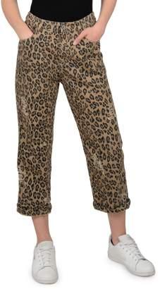 Molly Bracken Lili Sidonio Leopard-Print Cropped Pants