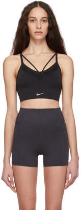 Nike Black Seamless Light Sports Bra