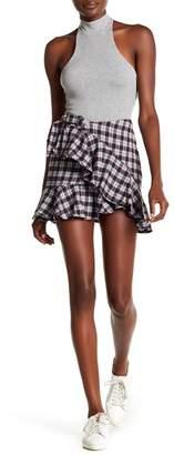 AFRM Dominic Ruffle Stripe Mini Skirt